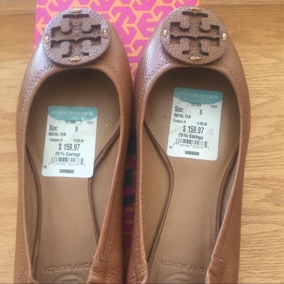 Tory Burch Reva Tan Flats Size